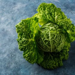 Raw Savoy Cabbage
